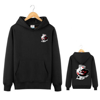Danganronpa Hoodie Jacket Monokuma Cosplay Dangan Ronpa Red Eyed Bear Sweatshirt Costume