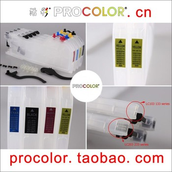New long refillable ink cartridge LC205 for BROTHER MFC-J4320DW, MFC-J4420DW, MFC-J4620DW, MFC-J5520DW, MFC-J5620DW, MFC-J5720DW